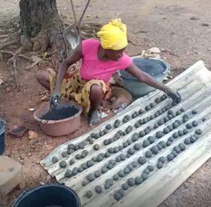 séchage des seedballs